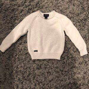 USED! POLO Ralph Lauren Cream sweater 4T Boys